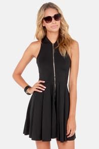 Tilt-a-Twirl Sleeveless Black Dress at Lulus.com!