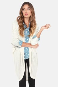 Bonne Draper Cream Cardigan Sweater at Lulus.com!