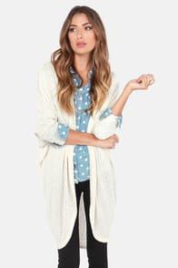 Bonne Draper Cream Cardigan Sweater at Lulus.com!