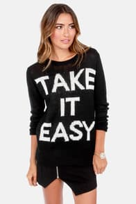 Element Eden Slacker Black Sweater at Lulus.com!