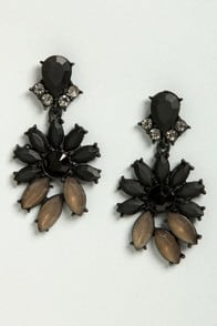 Join In Matte-rimony Black Rhinestone Earrings at Lulus.com!