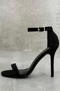 LuLu*s Elsi Black Single Strap Heels at Lulus.com!