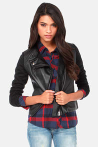Kick It Into High Gear Black Moto Jacket at Lulus.com!