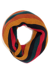 Across Campus Multi Striped Infinity Scarf  at Lulus.com!