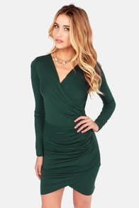 The Best of Times Hunter Green Dress at Lulus.com!