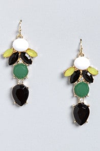 Golly Glee Black Rhinestone Earrings at Lulus.com!