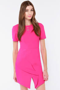 Keepsake Stubborn Love Fuchsia Dress at Lulus.com!