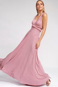 Tricks of the Trade Mauve Maxi Dress at Lulus.com!