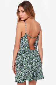 Floral Code Blue Floral Print Dress  at Lulus.com!