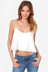 Crop-sy Daisy Ivory Crop Top  at Lulus.com!