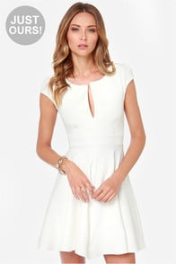 LULUS Exclusive Top Contender Ivory Dress at Lulus.com!