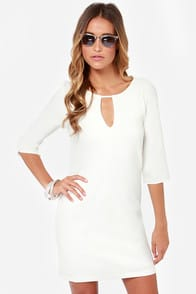Cutout of Control Ivory Shift Dress at Lulus.com!