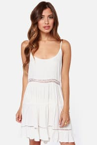 A Near Myth Backless Ivory Dress  at Lulus.com!