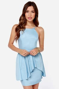 Save the Last Dance Light Blue Dress at Lulus.com!