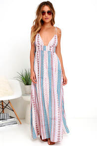 Maxin' Relaxin' Multi Print Maxi Dress at Lulus.com!