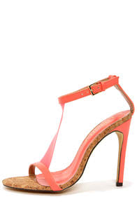 Golden 14 Coral T Strap Dress Sandals at Lulus.com!