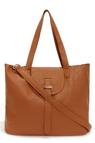 Handy Eye Candy Tan Tote at Lulus.com!