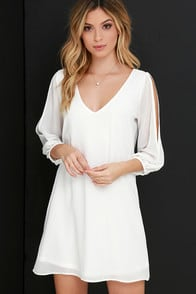 Shifting Dears Ivory Long Sleeve Dress at Lulus.com!