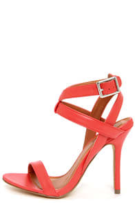 Rosita 3 Red Ankle Strap Dress Sandals at Lulus.com!