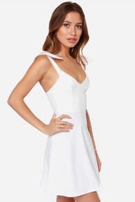 Double Bow-nus Ivory Dress at Lulus.com!