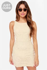 LULUS Exclusive Loft Party Cream Lace Dress at Lulus.com!