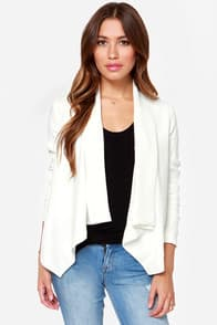 BB Dakota Bertilla Ivory Blazer at Lulus.com!