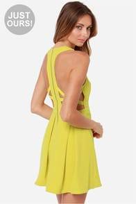LULUS Exclusive Bright On Point Chartreuse Dress at Lulus.com!