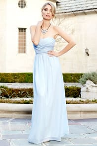 Royal Engagement Strapless Light Blue Maxi Dress at Lulus.com!