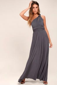 Tricks of the Trade Dark Grey Maxi Dress at Lulus.com!