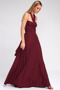 Tricks of the Trade Burgundy Maxi Dress at Lulus.com!