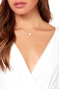 String Along Gold Pearl Necklace at Lulus.com!