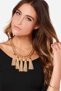 Five Star Shining Gold Chain Necklace at Lulus.com!