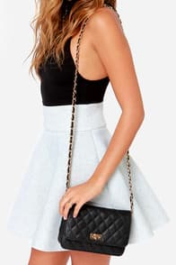 Finer Things Black Quilted Purse at Lulus.com!