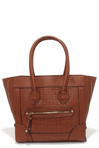 Croc Steady Brown Tote at Lulus.com!