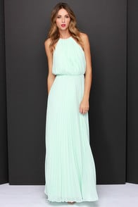 Bariano Melissa Mint Maxi Dress at Lulus.com!