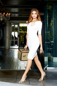 We Built This Midi Ivory Midi Dress at Lulus.com!