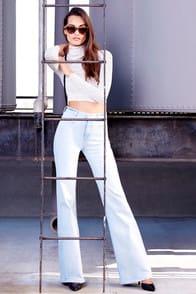 Somedays Lovin' Daze Light Wash Flare Jeans at Lulus.com!