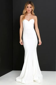 Sorella Ivory Strapless Maxi Dress at Lulus.com!