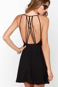 Strappy Together Black Dress at Lulus.com!