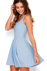 Home Before Daylight Periwinkle Dress at Lulus.com!