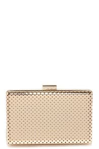 Shine Down Gold Clutch at Lulus.com!