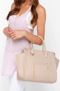 Wing-Woman Beige Handbag at Lulus.com!