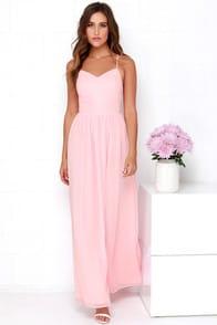 Rooftop Icing Light Pink Maxi Dress  at Lulus.com!