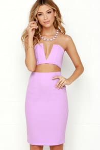 Fame-Sake Lavender Two-Piece Dress at Lulus.com!
