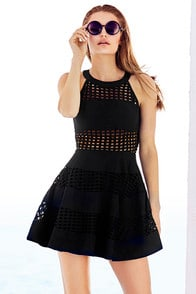 Fly Freely Black Skater Dress at Lulus.com!