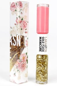 LAQA & Co. Cagney Pink Gold Fleck Manicure Duo at Lulus.com!