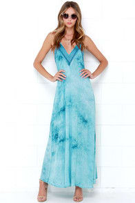 Wild Child Turquoise Embroidered Maxi Dress at Lulus.com!
