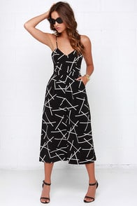 Cameo Power Trip Black Print Midi Jumpsuit at Lulus.com!