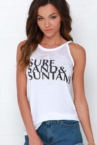 Chaser Surf Sand and Suntans Ivory Top at Lulus.com!
