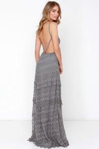 Beneath the Garden Arbor Grey Lace Maxi Dress at Lulus.com!